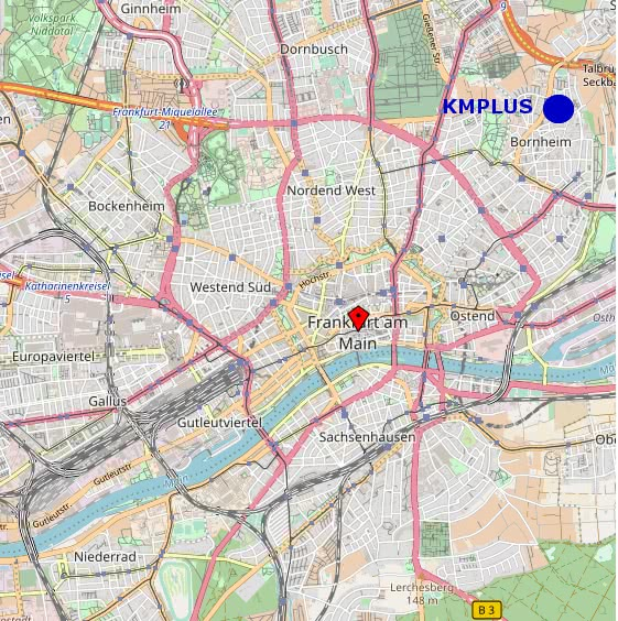 Standort KMPlus Frankfurt